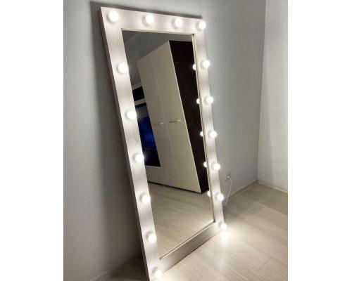 Гримерное зеркало с подсветкой 175х80 Сосна Рустик