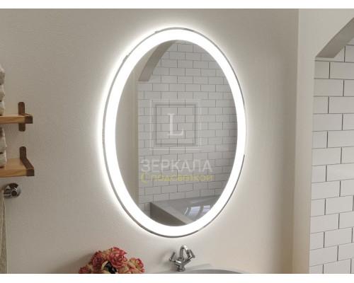 Зеркало в ванну комнату с подсветкой Ронда